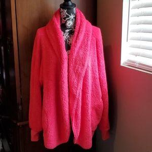 Fashion Nova Hot Pink Furry Jacket S/M